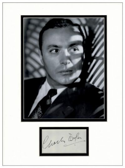 Charles Boyer Autograph Signed